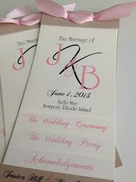 layered wedding programs layered wedding program template