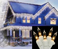 set of 150 heavy duty commercial grade clear icicle lights white