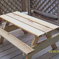 Plans Building Wooden Picnic Tables by Best 25 Kids Picnic Table Plans Ideas On Pinterest Kids Picnic