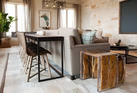 table that goes behind couch redefining the sofa table add chairs apartment therapy