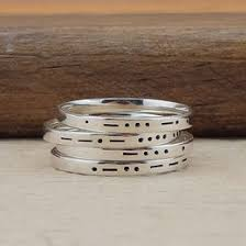 personalized stackable rings initial ring ideas collections