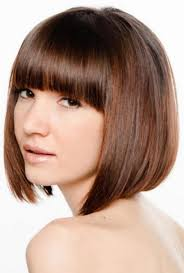 fine hair ombre popular short angled bob hairstyles with side bangs for long faces
