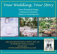 wedding rentals sacramento el dorado party rentals sacramento wedding rentals