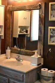 Oak Framed Bathroom Mirror Oak Framed Bathroom Mirrors Wall Rustic Wood Mirror Timber Above