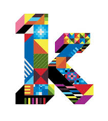 letter k type design by dan agostino typography design pattern