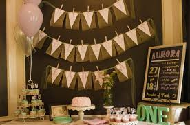 shabby chic first birthday party raising aurora