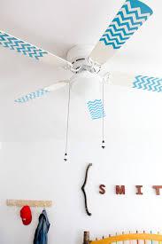 how to paint a ceiling fan diy project chevron pattern fan blades design sponge