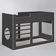 design kinderbett kinderbett hochbett lalilu aus holz 130cm kieselgrau design