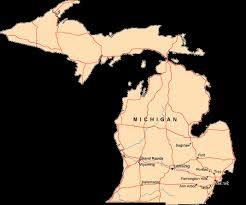 usa map kalamazoo michigan state of us map vector outlines with scales of and