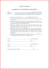 installment plan agreement template release of debt letter yearly appraisal sample appraisal form