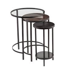 Small Round Accent Table by Furniture Round Nesting Tables Bronze Side Table Lucite