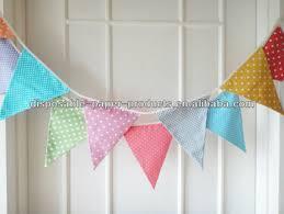 rainbow bunting banners polka dot stripes garland banners pink