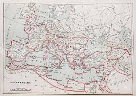 Roman World Map by Historic Roman Empire Map From 1894 Book Stock Photo Picture And