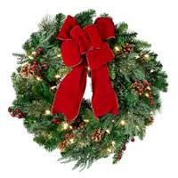 lighted christmas wreath pre lit classic lighted christmas greenery collection