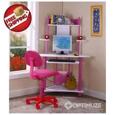 kids corner desk pink girls bedroom furniture computer writing