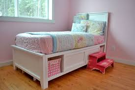 Diy Twin Bed Frame With Storage Bedroom Charming Handmade From This Plan Projects Built From