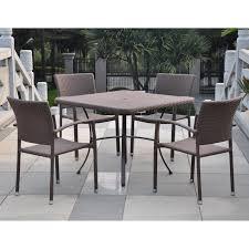 Faux Wicker Patio Furniture - international caravan barcelona contemporary resin wicker patio