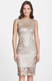 champagne mother of the bride dresses tadashi shoji lace dress
