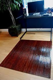 bamboo chair mat rug hardwood floor protector office meze