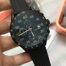 luxury brand new car2a83 ft6033 chronograph mens watch black