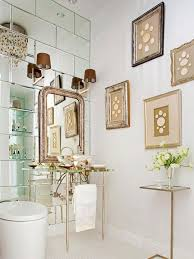 Mirrored Bathrooms Small Bathroom Solution Mirrored Walls Inspiration Ideas