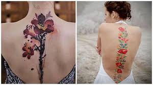 25 purposeful spine tattoo designs for women and girls