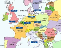 europe world map map of europe world atlas major tourist attractions maps