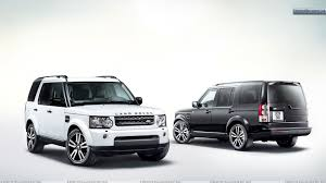 white land rover white and black land rover discovery in side front and back pose