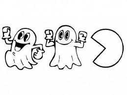 pacman coloring pages coloringsuite com