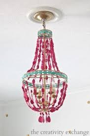 Pink Gypsy Chandelier Chandelier For Kids Room Foter