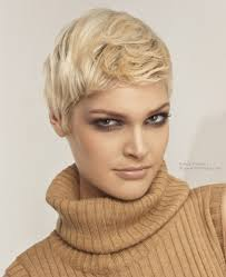 short haircut with hair styled into a quiff