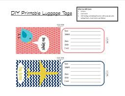 Luggage Tags Template diy printable luggage tags brass and whatnots