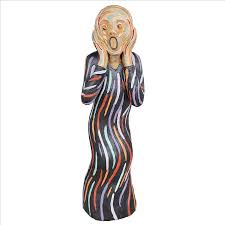 Statue For Home Decoration Inspired 1893 Edvard Munch Scream Sculpture Statue Home Decor Art