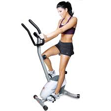 amazon com velocity exercise magnetic upright exercise bike