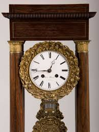 Emperor Grandfather Clock Antique French Charles X Period Rosewood And Ormolu Portico Clock