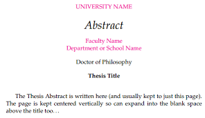 thesis abstract removing author u0027s name from abstract tex latex stack exchange