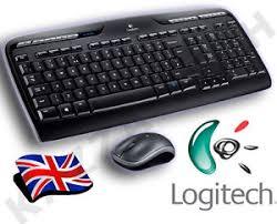 souris pour ordinateur de bureau logitech sans fil mk330 uk qwerty clavier souris pour ordinateur