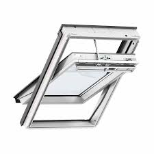 velux 780mm x 980mm integra electric white poly finish centre