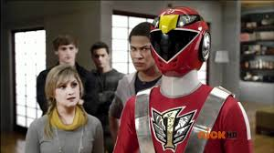 clash red rangers movie ranger red visits shiba house