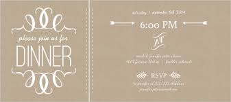 dinner invitation faux kraft paper and white modern dinner invitation dinner party