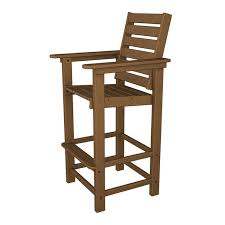 Outdoor Bar Setting Furniture by Polywood Captain Bar Arm Chair Maintenance Free Outdoor Bar
