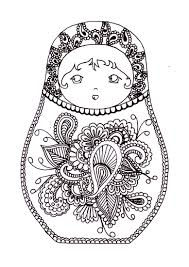 russian dolls 2 russian dolls coloring pages adults