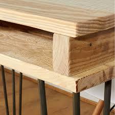 Office Desk Legs by Reclaimed Industrial Pallet Office Desk Hairpin Legs By Sunnyside