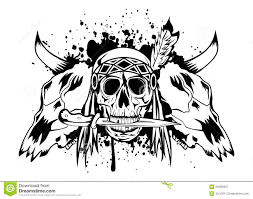 skulls bull and skull indian royalty free stock photography