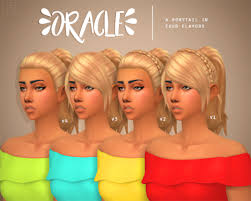 the sims 4 cc hair ponytail habsims oracle i ll give you 4 guesses as to iron seagull