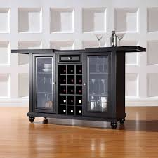 walmart bottle wine rack features black wooden table and glass