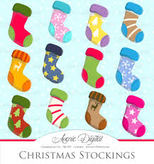 christmas stocking clipart vector illustrations creative market