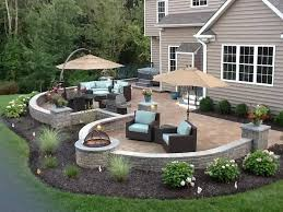 Patio Landscape Design Landscape Around Patio Pinteres