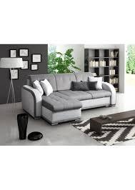 canapé gris simili cuir canape d angle blanc et gris