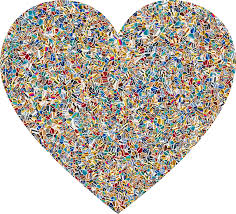 clipart psychedelic tiled heart